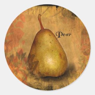 Golden Pear Classic Round Sticker