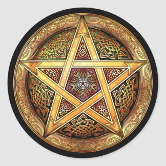 Golden Pentacle Stickers