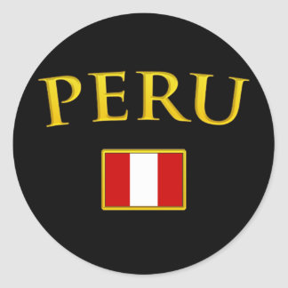Golden Peru Classic Round Sticker