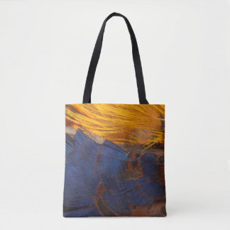 Golden Pheasant Feather Abstract Tote Bag