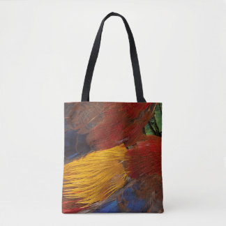 Golden Pheasant Feather Design Tote Bag