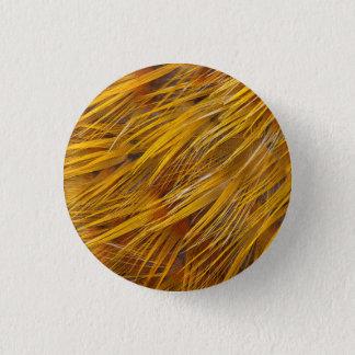 Golden Pheasant Feathers Close Up 3 Cm Round Badge