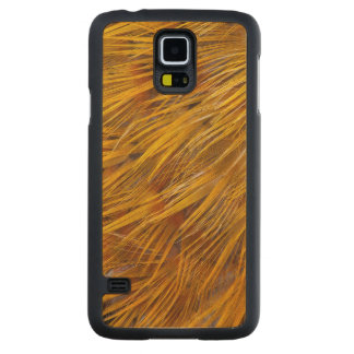 Golden Pheasant Feathers Close Up Carved Maple Galaxy S5 Case
