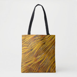 Golden Pheasant Feathers Close Up Tote Bag
