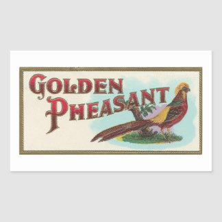 Golden Pheasant Rectangular Sticker
