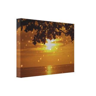 Golden Philippine Sunset Canvas Wrap