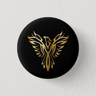 Golden Phoenix 3 Cm Round Badge