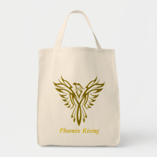 Golden Phoenix Rising from Flames Tote Bag