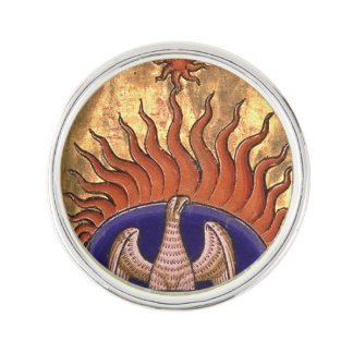 Golden Phoenix Rising From the Ashes Lapel Pin