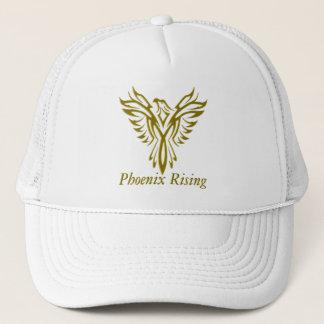 Golden Phoenix Rising meshback hats