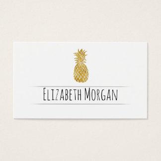 golden pineapple business card