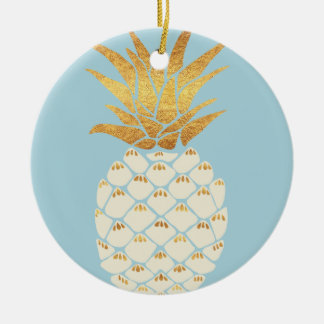 Golden Pineapple Christmas Ornament