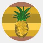 Golden Pineapple Classic Round Sticker