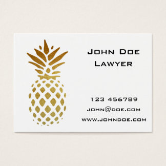 Golden Pineapple, Fruit in Gold Business Card