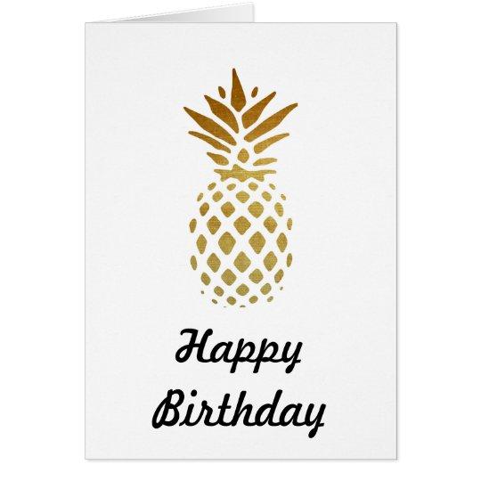 Golden Pineapple, Fruit in Gold Card