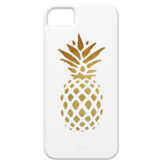 Golden Pineapple, Fruit in Gold iPhone 5 Cover