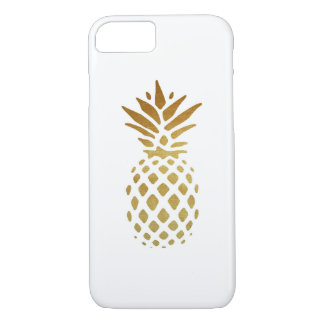 Golden Pineapple, Fruit in Gold iPhone 8/7 Case