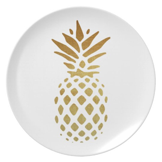 Golden Pineapple, Fruit in Gold Plate