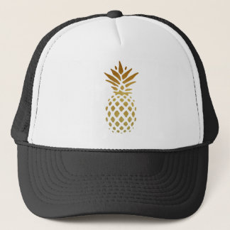 Golden Pineapple, Fruit in Gold Trucker Hat