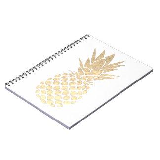 golden pineapple notebooks