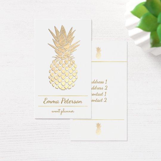 golden pineapple on white business card