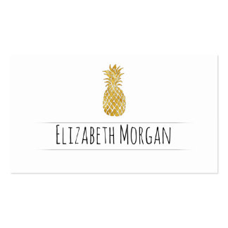 golden pineapple pack of standard business cards
