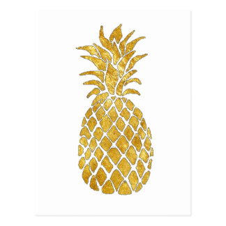 golden pineapple postcard