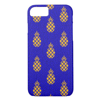Golden Pineapples and Blue iPhone 7 Case