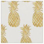 golden pineapples fabric