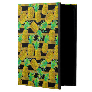 Golden Pineapples On Stripes iPad Air Cases