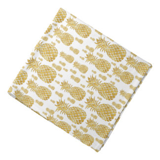 golden pineapples pattern bandana