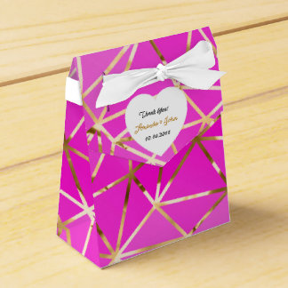 Golden Pink White Wedding Favor Thank You Wedding Favour Boxes
