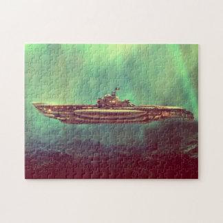 Golden Pirate Submarine Puzzle