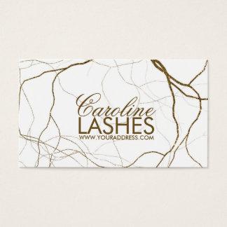 Golden Plant Roots Eyelash Makeup White Card