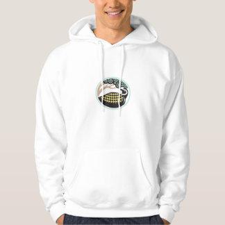 Golden Plover Looking Up Tree Oval Tribal Art Hooded Sweatshirt