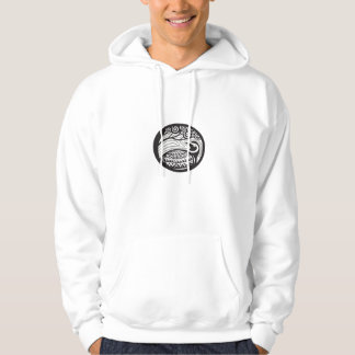 Golden Plover Looking Up Tree Oval Tribal Art Hoodie
