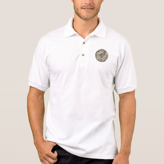 Golden Plover Standing Circle Tribal Art Polo Shirt
