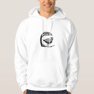 Golden Plover Standing Tree Tribal Art Hoodie