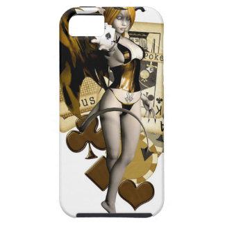 Golden Poker Girl 2 iPhone 5 Cases