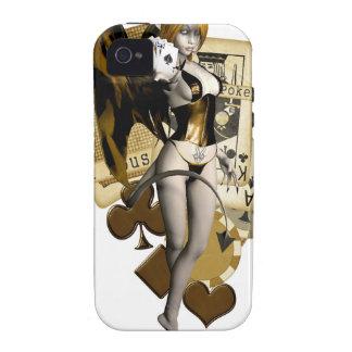 Golden Poker Girl 2 iPhone 4/4S Case