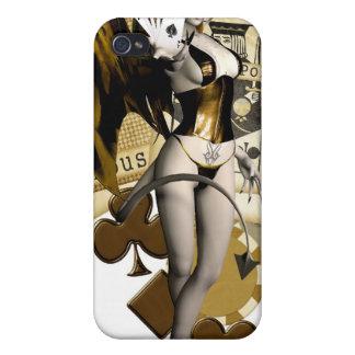 Golden Poker Girl 2 iPhone 4 Cases