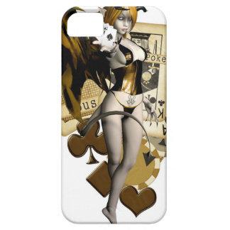 Golden Poker Girl 2 iPhone 5 Cover