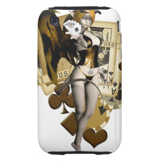 Golden Poker Girl 2 Tough iPhone 3 Covers