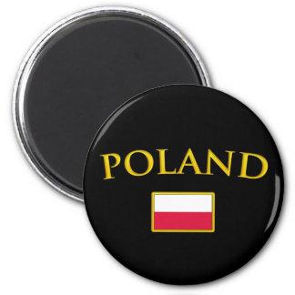 Golden Poland Magnet