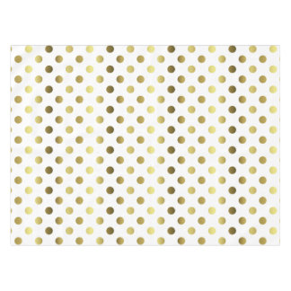 Golden Polka Dot Table Cloth