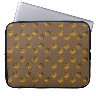 """Golden Polka dots Neoprene Laptop Sleeve 15"""""""