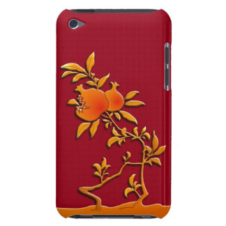 Golden pomegranate iPod touch case