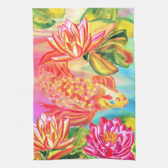Golden pond design kitchen/hand towel