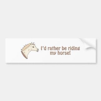 Golden Pony Car Bumper Sticker