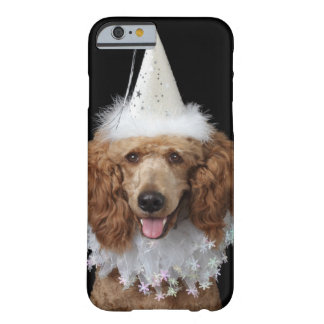 Golden Poodle Dog wearing a white clown costume Barely There iPhone 6 Case